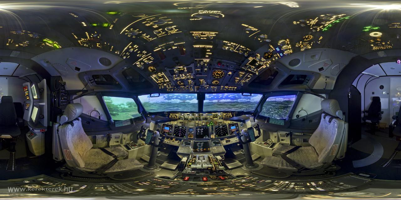 PanoBlog B2 Cockpit Panorama